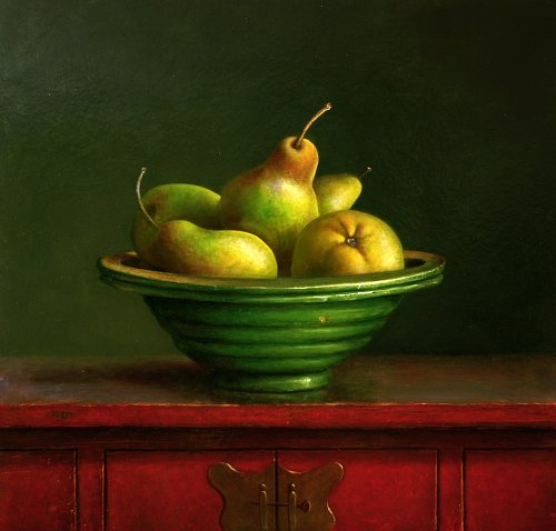 Still life with pears, Jos van Riswick