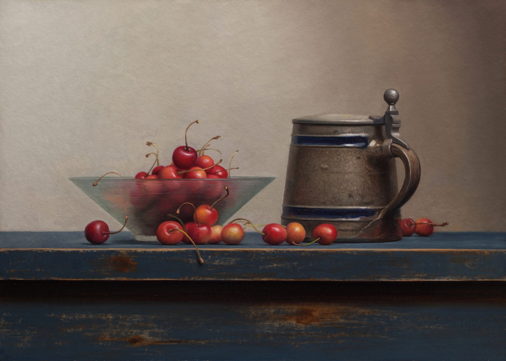 Still Life with Cherries and Tankard
